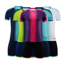 blank soccer jersey Blank Adult children's football uniform soccer jerseys & shorts short-sleeved training suit Football game team jersey Customized