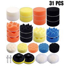 31Pcs/Set Car Accessories Polishing Wheel Pad Kit For Car Polisher Wax Cleaning Tools Polishing Pad Motorcycle  Auto Accessories