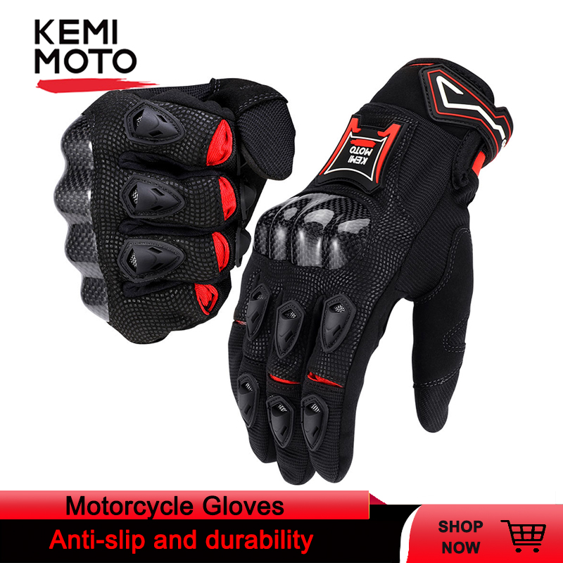 Motorcycle-Gloves Carbon-Fiber Touch-Screen Protective Cycling Women for Tmax Breathable