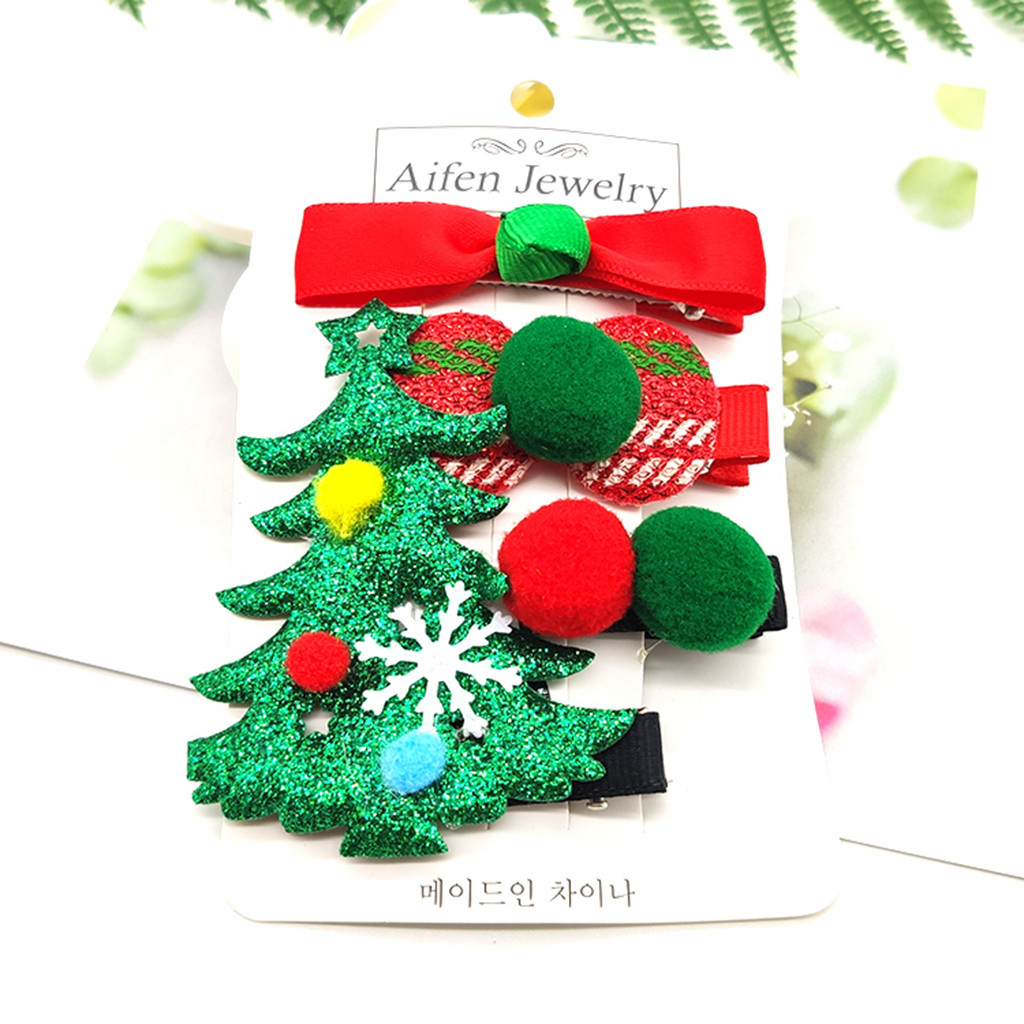 Cute Infants Kids Baby Girls Christmas Xmas Hairpin Hair Clip Hair Accessories