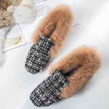 Large Size Winter Women Flats Shoes Ankl