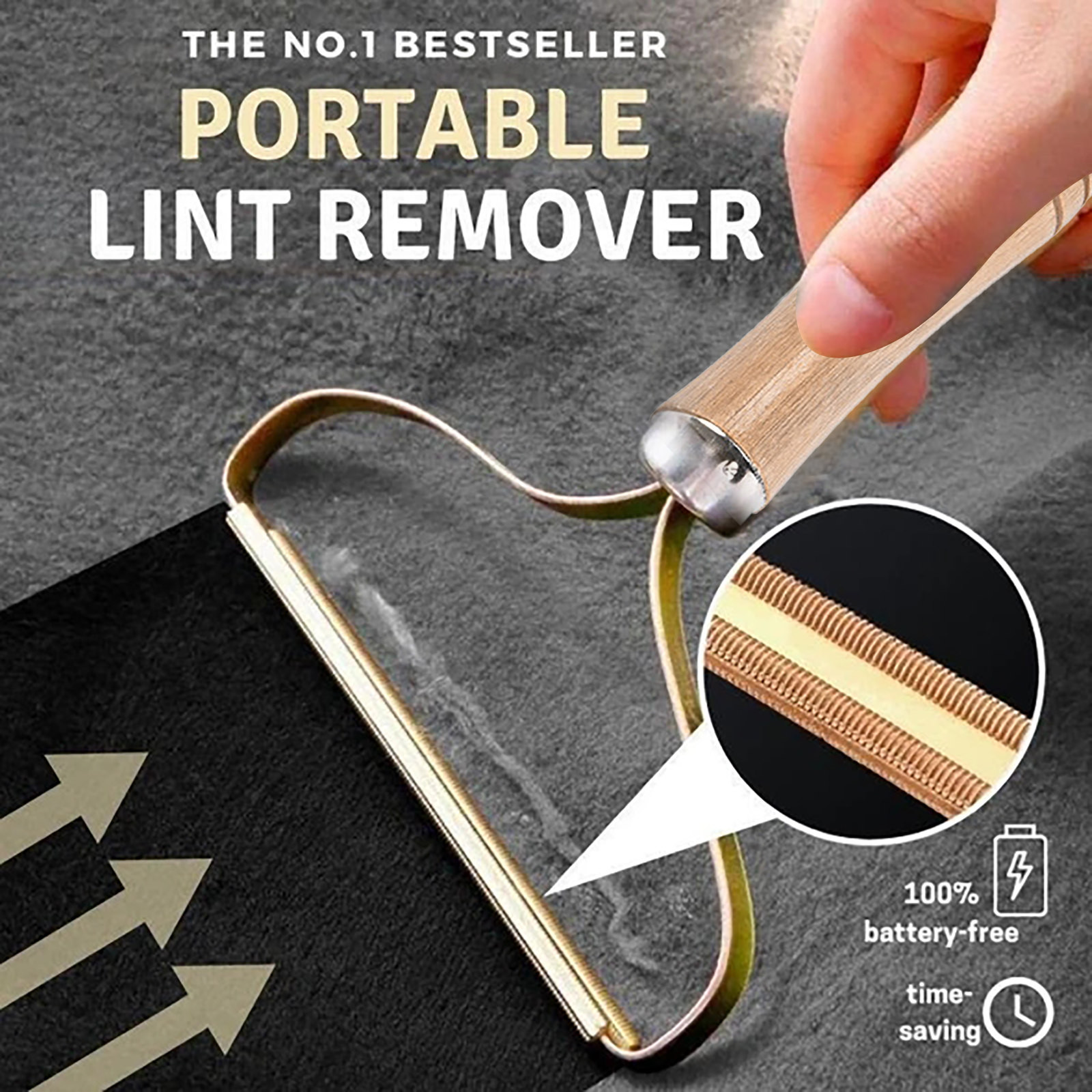 Portable Lint Remover Clothes Fuzz Shaver Reusable Double Sided for Removing Lint Pet Hair Dust in Clothes and Furniture