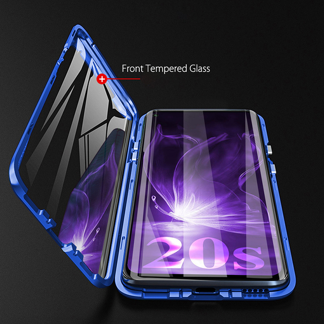 honor 20s case metal magnetic flip case for huawei honor 20s 20 s s20 honor20s honor20 s mar-lxh 6.15'' double-sieds glass coque