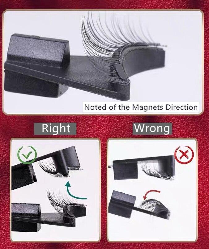 Magnetic Quantum Eyelash Curler With False Eyelashes Waterproof Long Lasting Eyelash Extension
