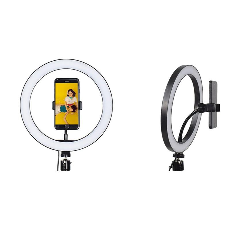 LED 16 26cm Ring Light Camera Ringlight Tripod Stand Phone Holder For YouTube Tiktok Photography Video Photo Studio Lamp Kit