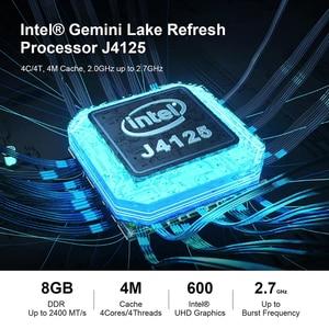 Image 3 - Beelink GK55 windows 10 Мини ПК intel J4125 до 2,7 ГГц 8 Гб 128 256 2,4/5G WI FI 2 * HDMI BT4.0 компьютер linux NUC ubuntu (убу́нту операционная система)