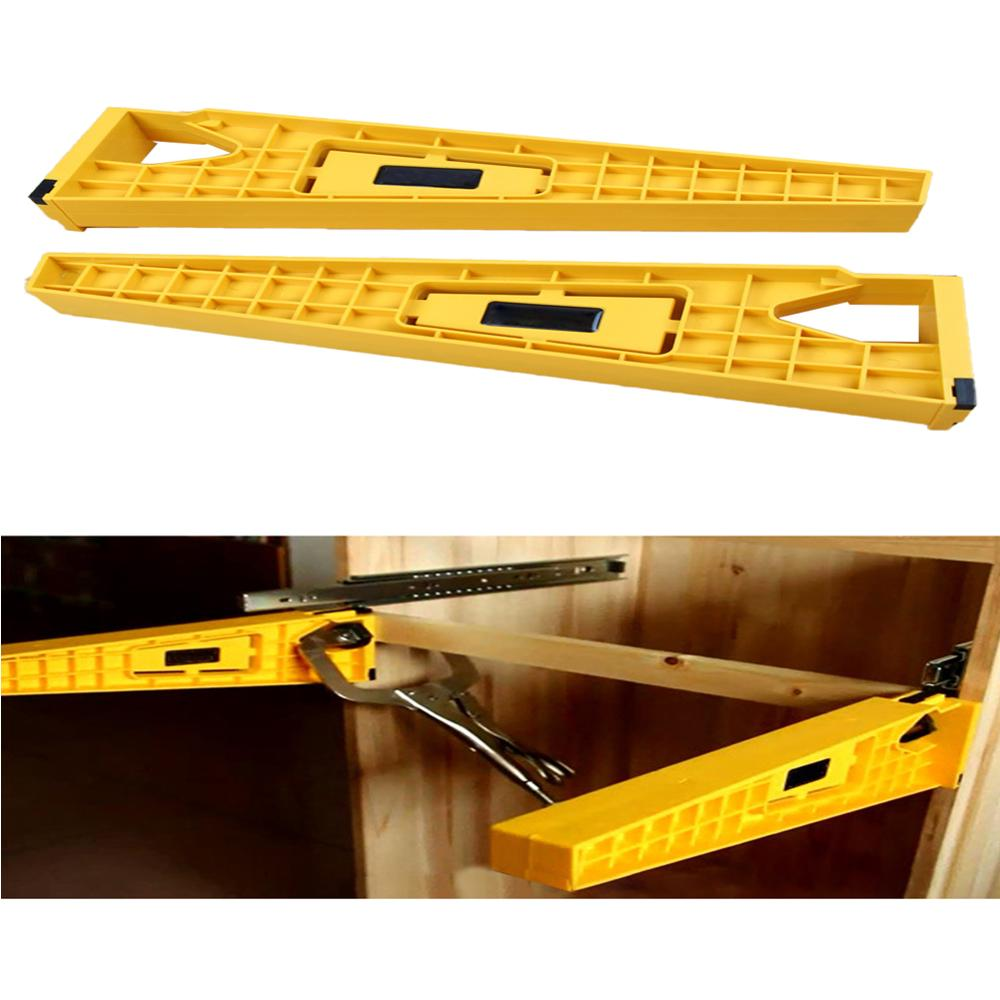 1/2pcs Drawer Track Slider Jig Installation Jig Auxiliary Positioning Holder Fast Installation Of Locator Mounting Hardware Tool