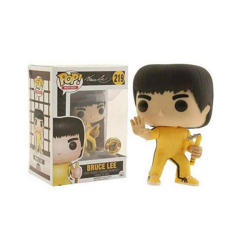 Vinil FUNKO POP NOVO Estilo Bruce Lee Figuras de Ação Colecionáveis Modelo Brinquedos para presente de Natal Das Crianças