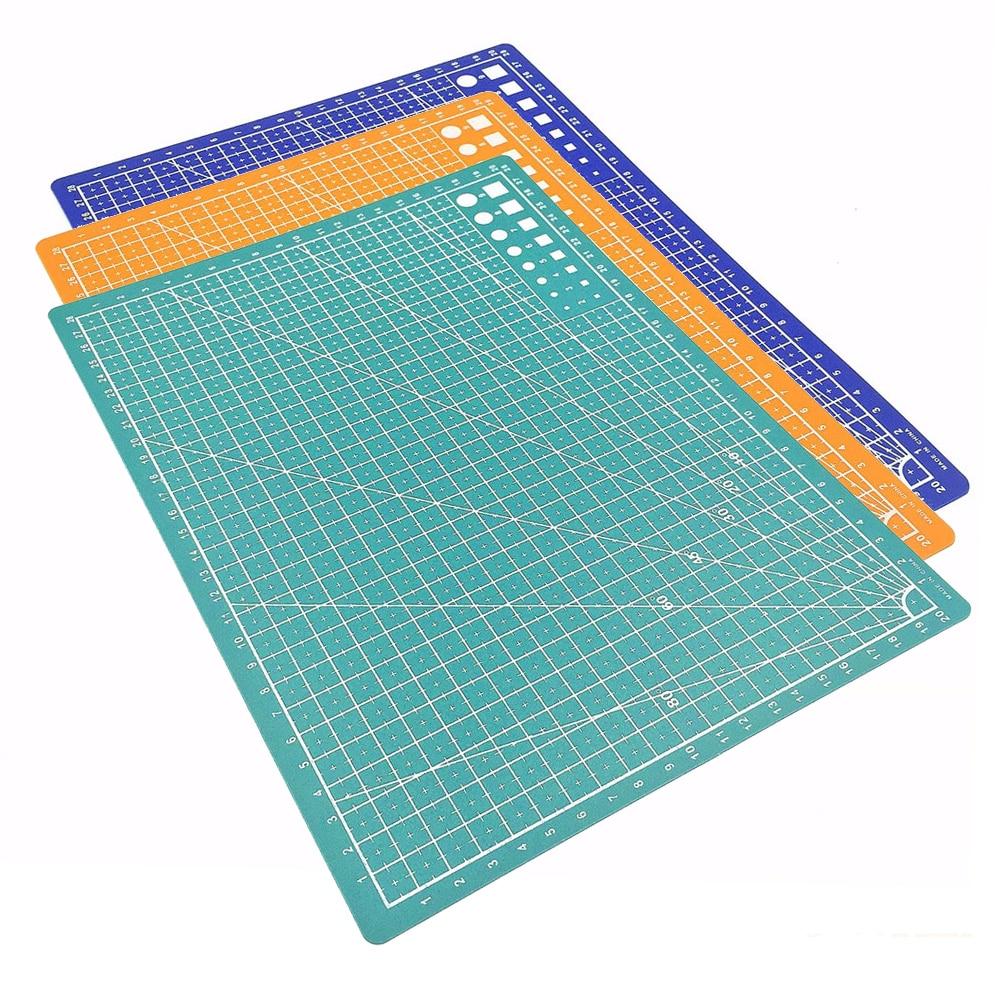 ПВХ-коврик для резки A3, Настольный коврик, лоскутный коврик для резки, прочные инструменты ручной работы «сделай сам», скрапбукинг, самовосс...