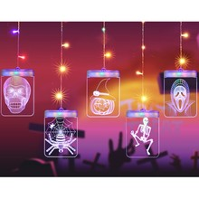 LED Halloween Light String Fancy Ball Decoration Light Halloween Light String 5V USB Powered LED Light String 3D Pumpkin Light