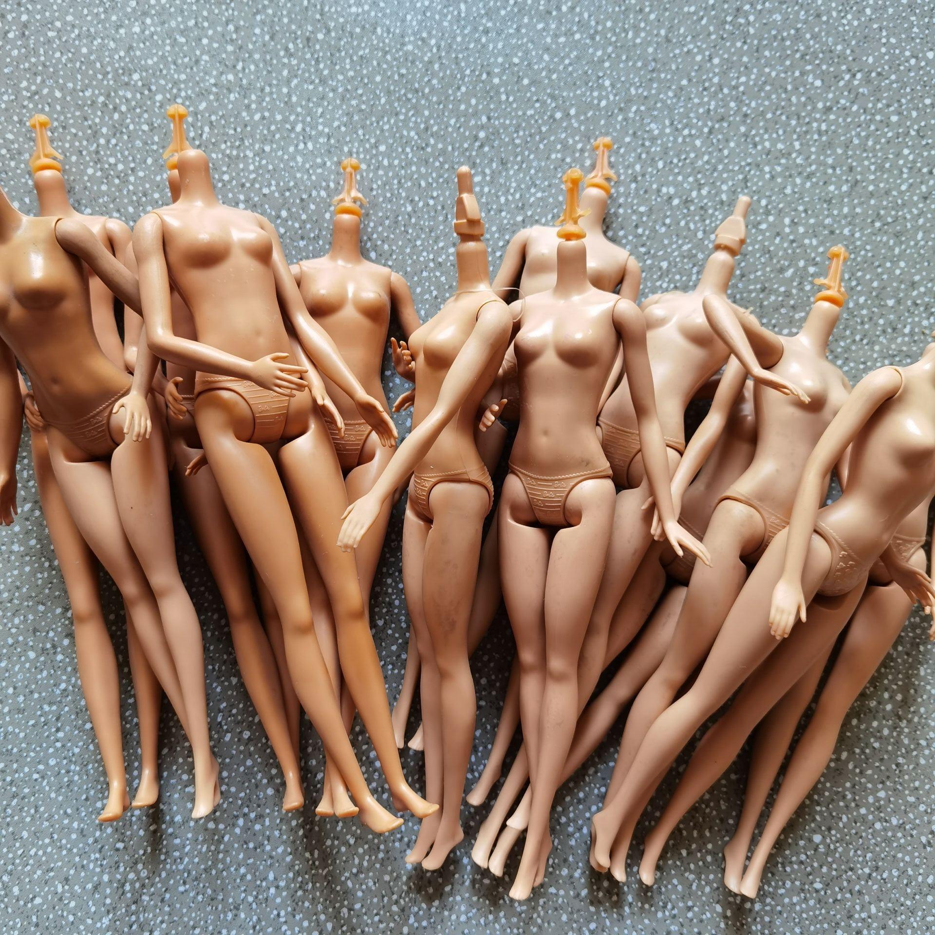 Оригинальный Женский ферритический обнаженный для шарнирных кукол barbi аксессуары без головы игрушки Аксессуары для кукол тело