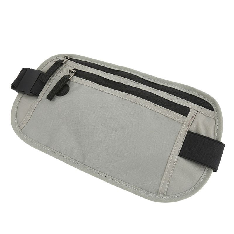 Premium Quality New Unisex RFID Blocking Slim Bags Belt Phone Pouch Travel Hip Purse Waist Fanny Pack