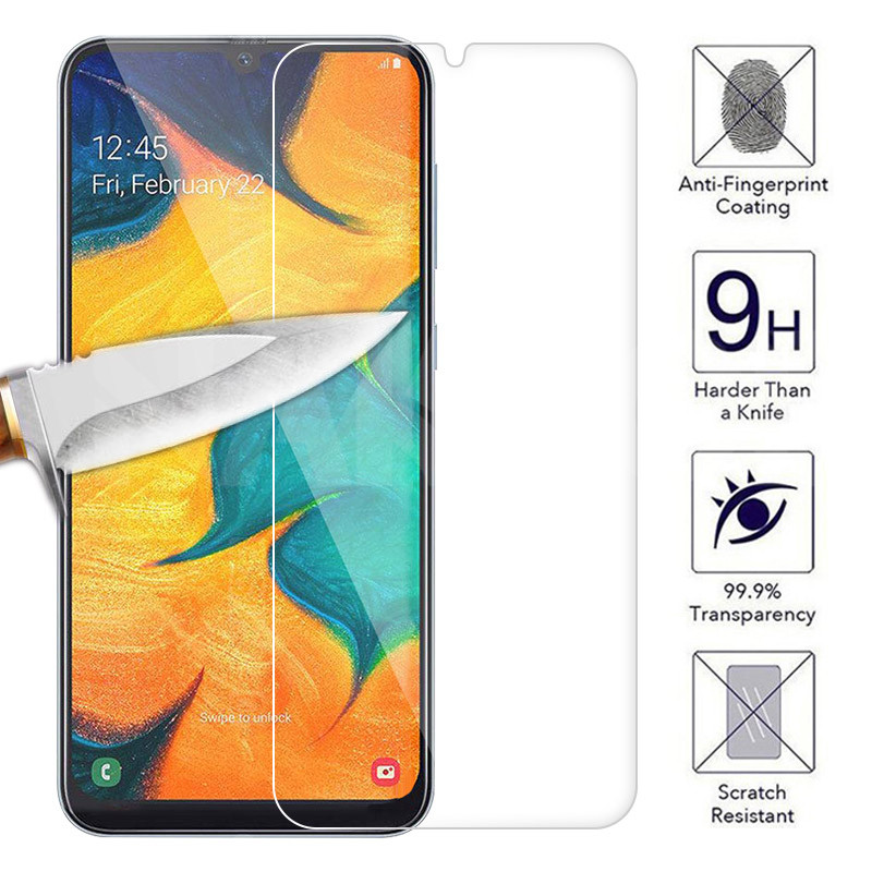9H HD Protective Glass On The For Samsung Galaxy A30 A50 A20 A10 A40 Screen Protector Samsung A60 A70 A80 A90 Tempered Glass