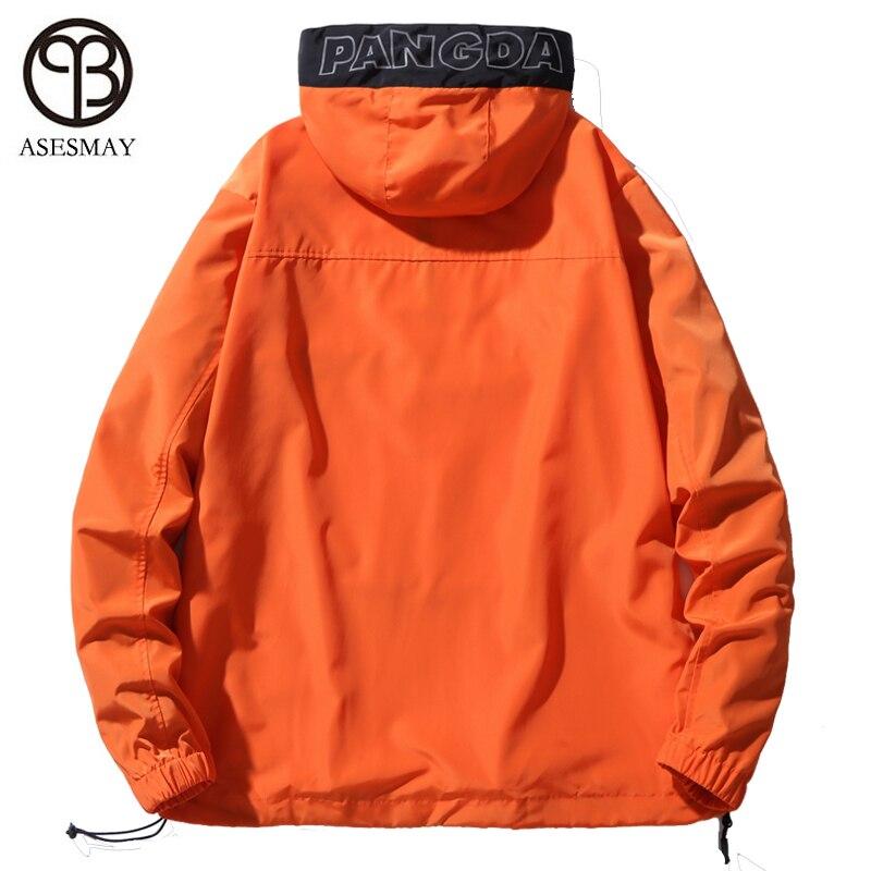 Asesmay куртка с капюшоном Для мужчин новинка в стиле пэтчворк и КолорБлок, пуловер, куртка, модный тренировочный костюм пальто Для мужчин в сти... - 4