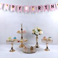mirror Round Cake Stand Wrought Iron Exquisite Cake Rack Base Dessert Stand Round Cake Display Wedding Birthday Cupcake Holder
