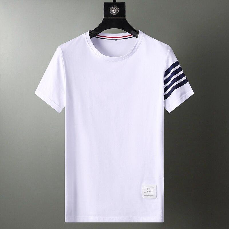 2021 Summer Brand Anime Graphic T Shirts Harajuku Men Clothing Oversized Tops & Tees Plus Size Clothes Korean White Short Sleeve