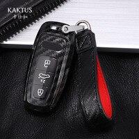Carbon Fiber key case for car TPU Full-protective For Audi A6 C8 A7 A8 Q8 2018 2019 car key case car accessories key cover new