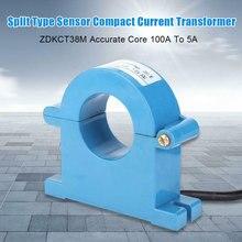 ZDKCT38M компактный цилиндрический Разъемный трансформатор тока 100А до 5А датчик сердечника Магнитный пластик точный остаточный индукции