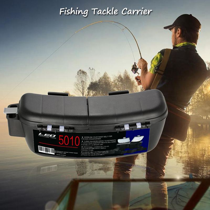 Multifunctional Fishing Box Portable Fishing Bait Tackle Box Storage Box Waist Carrier Lure Reel Holder Container in Fishing Tackle Boxes from Sports Entertainment