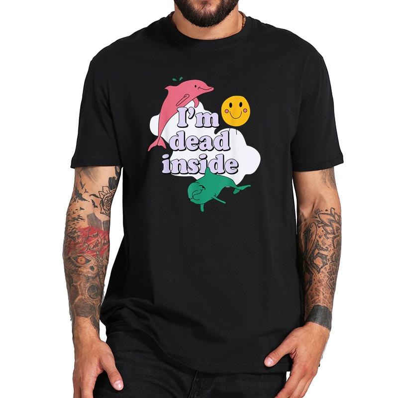 EU Size 100% Cotton T Shirt Dead Inside Song T Shirt Album Drones Alternative Avant-Garde Metal Rock Shirt cardigan