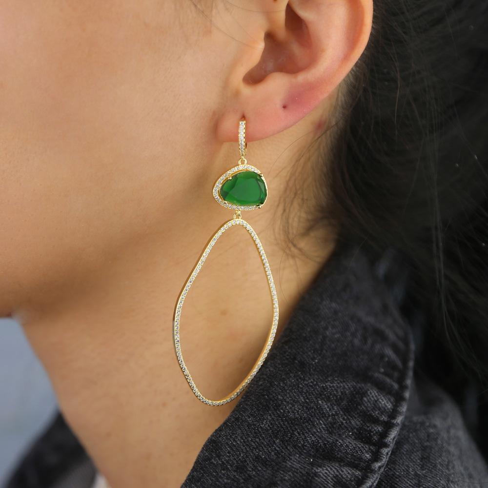 BRASS drop earring Y (4)