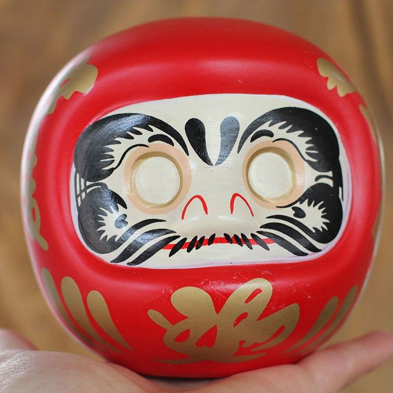 4 Polegada japonês cerâmica daruma boneca sorte gato fortuna ornamento caixa de dinheiro escritório