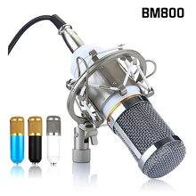 BM 800 mikrofon pojemnościowy do radia Braodcasting nagrywanie śpiewu KTV Karaoke Mic nagrywanie dźwięku mikrofon z mocowaniem amortyzującym