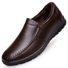 JINANDYU Brand Genuine Leather Shoes Men Winter Shoes Men Loafers Casual Driving Shoes Male Warm Black Mens Winter Boots Flats cimim mens shoes genuine leather handmade men loafers dress men flats male driving shoes mens shoes casual sapatos masculino