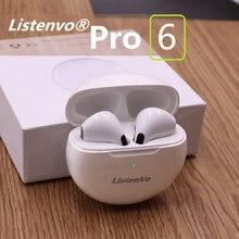 Listenvo pro 6 tws bluetooth fone de ouvido sem fio fones pk i9000 i90000 i12 para xiaomi redmi airdots huawei iphone 12
