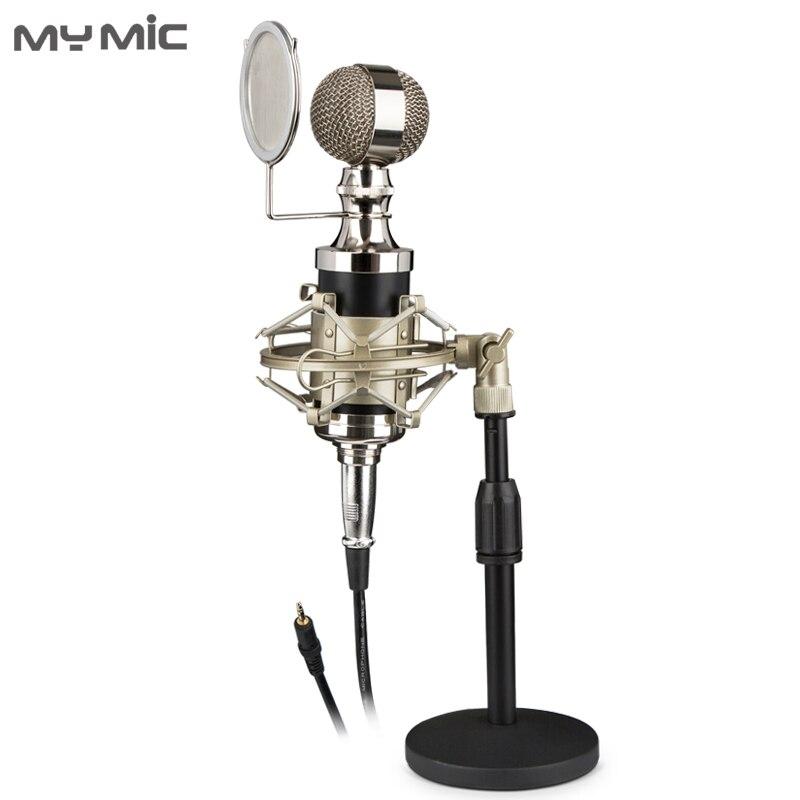 My Mic Q680Z studio de microphone d'enregistrement à condensateur professionnel avec socle de bureau pour la diffusion