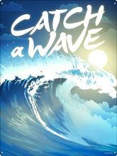 Жестяной знак catch a wave украшение для кофейного бара