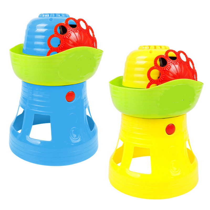 New products outdoors Electric Bubble water Toys Bubbler children Fully automatic Lighthouse