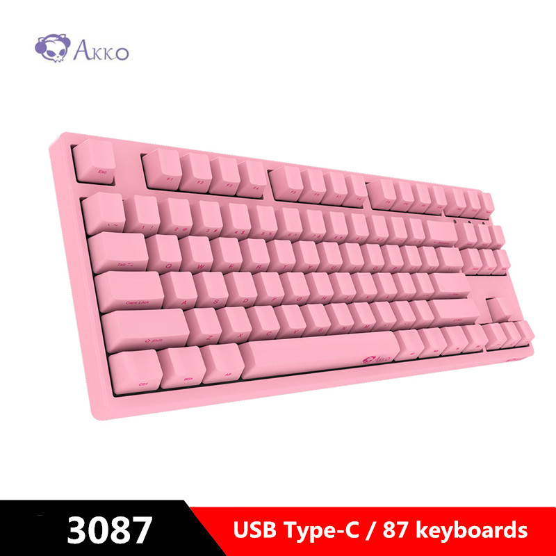 AKKO 3087 Gaming Mechanical Keyboard Cherry Switch Side Carved Letter USB Type-C Wired Computer Game With PBT Keycap