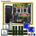 HUANANZHI motherboard sets on sale X79-8D dual X79 motherboard with 256G M.2 NVMe SSD dual CPU Xeon E5 2690 RAM 64G(8*8G) RECC