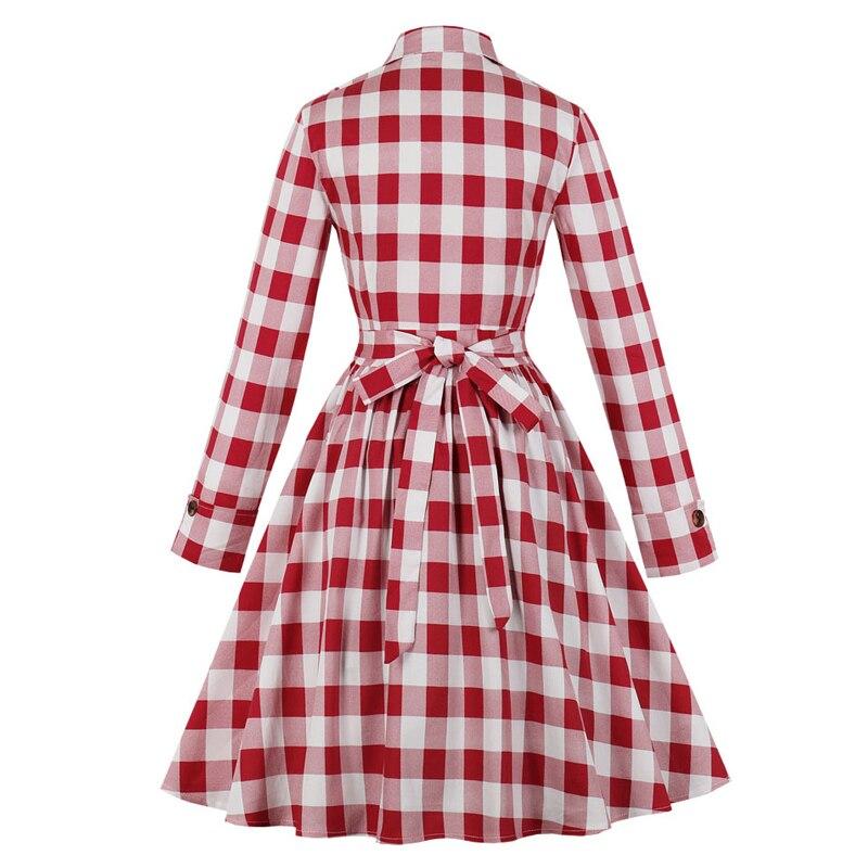 Vintage 1950/'s Plaid Shirtwaist Dress  50s Plus Size Day Dress XXL