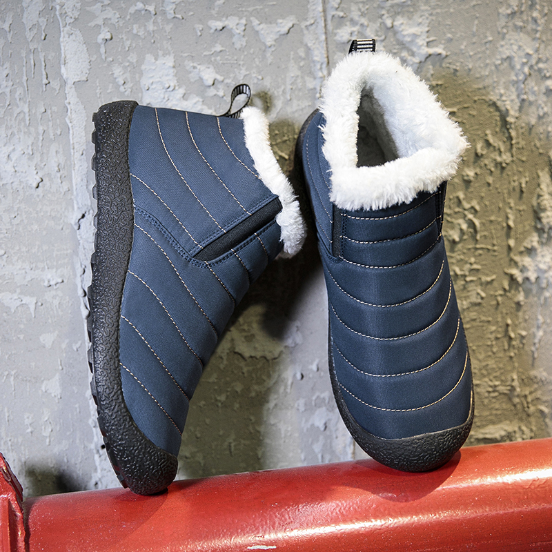 2019 New Men Boots Rubber Sole Non-slip Keep Warm Waterproof Shoes Winter Shoes Mens and Women Snow Boots High Top Winter Boots image