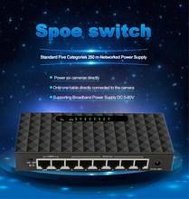 8 Port Spoe Switch 250M SPOE Power Over Ethernet Switch 90W Power Adapter for Network IP Cameras Or Wireless AP/ 6 PoE Splitter цена и фото