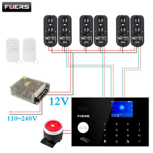 Image 1 - New Wireless WiFi 4G / GSM Home Security Alarm System equip 3 Pair 100m IR beams Tuya / Smart Life App Control Alarm