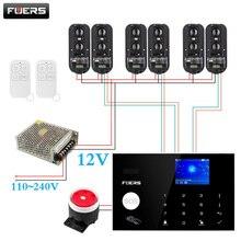 Sistema de alarma de seguridad para el hogar, WiFi inalámbrico, 4G/GSM, 3 pares, vigas IR de 100m, Tuya, Smart Life, App de Control de alarma
