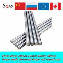 6mm 8mm 10mm 12mm 16mm 20 milímetros linear eixo 100 150 200 250 300 350 400 500 600 700 milímetros linear rail rodada rod para 3d de impressora