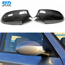 for BMW E87 Carbon Mirror 2010 2011 e82 carbon fiber mirror cover 1;1 Replacement & Add on Style  carbon fiber wing mirror cover for bmw e82 e87 2007 2008 add on style