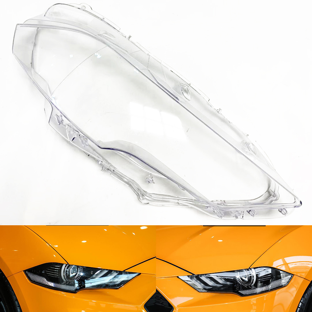 Car Headlamp Lens For Ford Mustang 2018 2019  Car  Replacement   Auto Shell