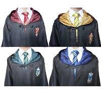 Grifondoro Cosplay Costume Potter Robe Sciarpa Corvonero Tassorosso Serpeverde Mantello con Cravatta Potter Costume