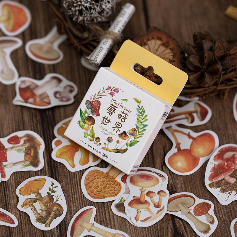 50Pcs/Box Cute Animal Stickers Kawaii Food Stationery Stickers Paper Adhesive Sticker For Kids DIY Scrapbooking Diary Supplies
