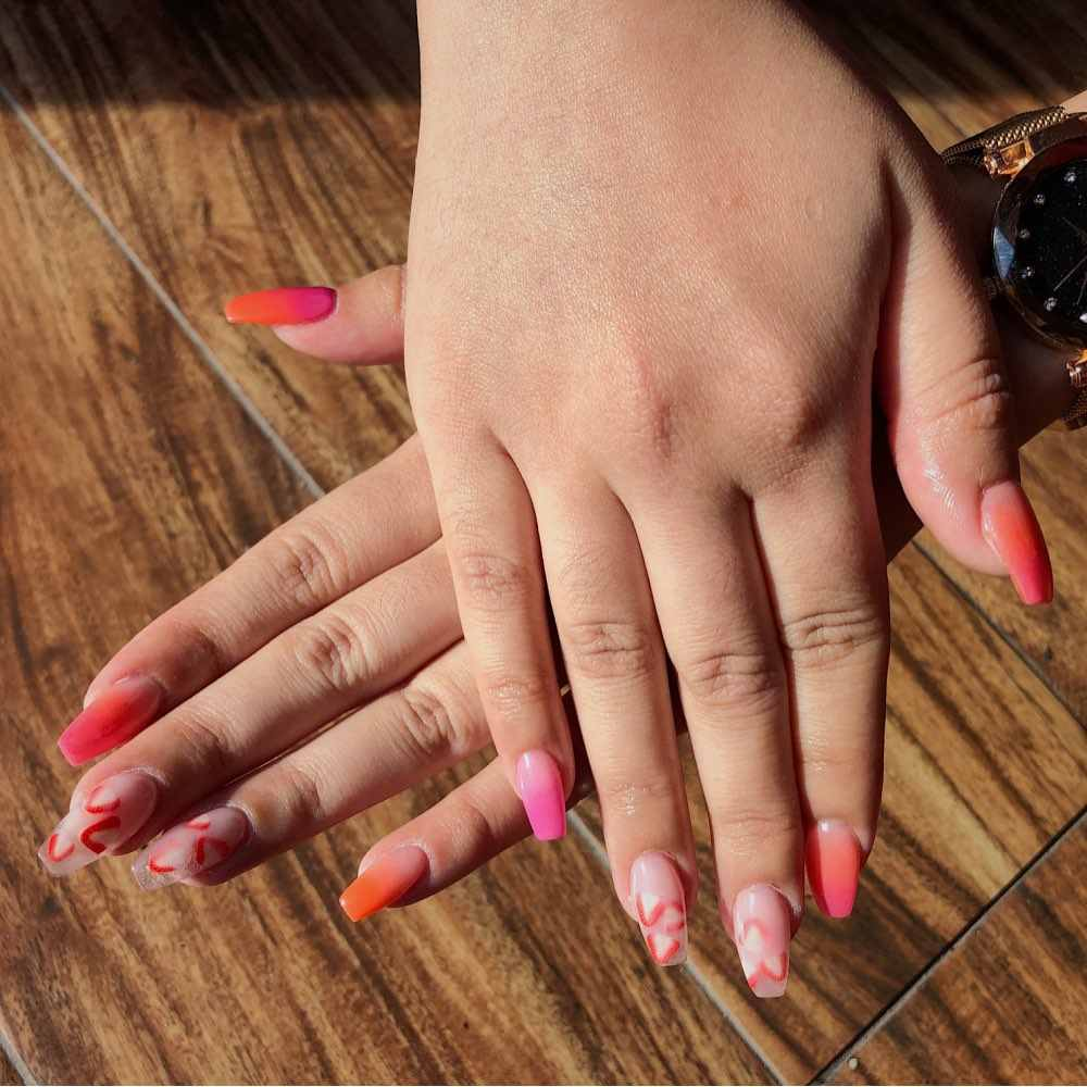 2x 50 Orange Fondant Cane Slices fns09 Nail Art