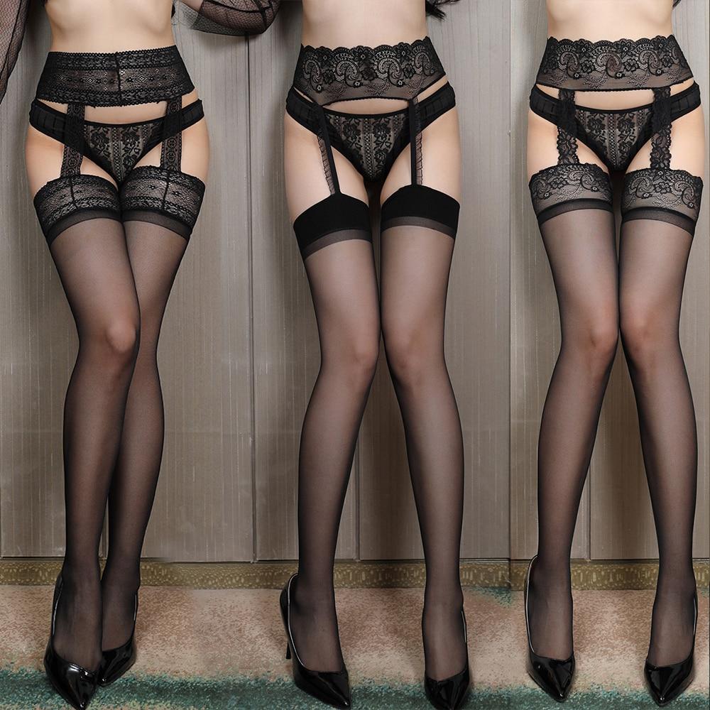 Bas Sexy dentelle capote cuissardes bas + jarretelle porte-jarretelle Lingerie et femme dame mode femme nouveau