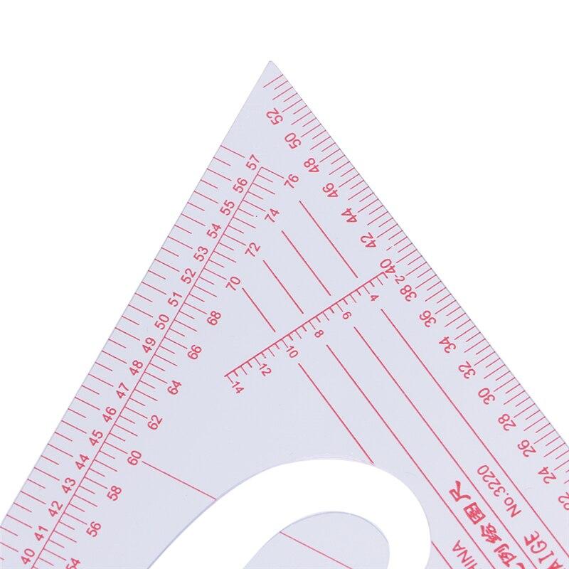 Multi-function Triangular Scale Ruler Measure Plastic Dressmaking Tailor Sewing