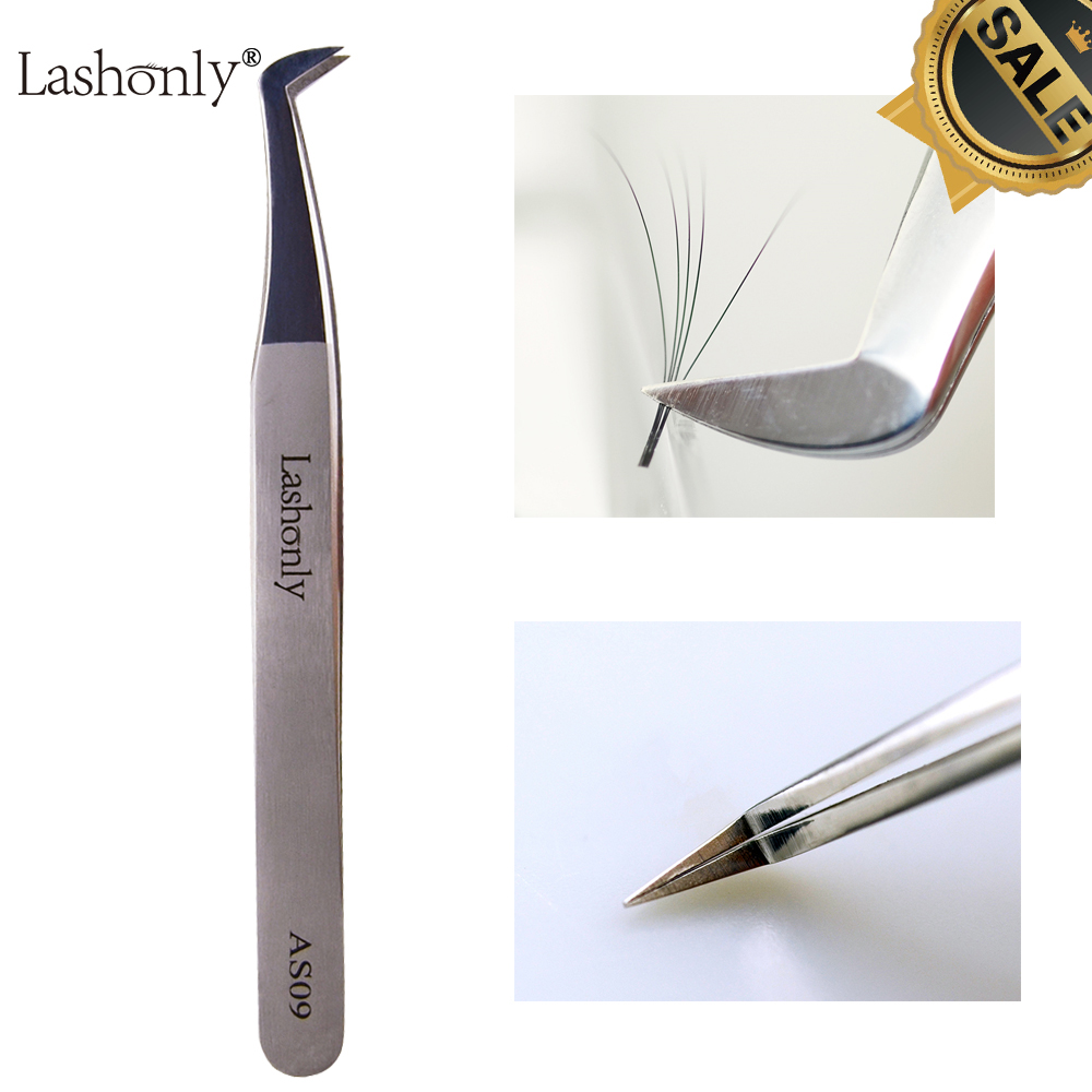 Lashonly AS09 Volume Eyelash Tweezers 3D-6D Russian Volume Eyelash Extension Best Quality Easy Fan Lash Tweezer