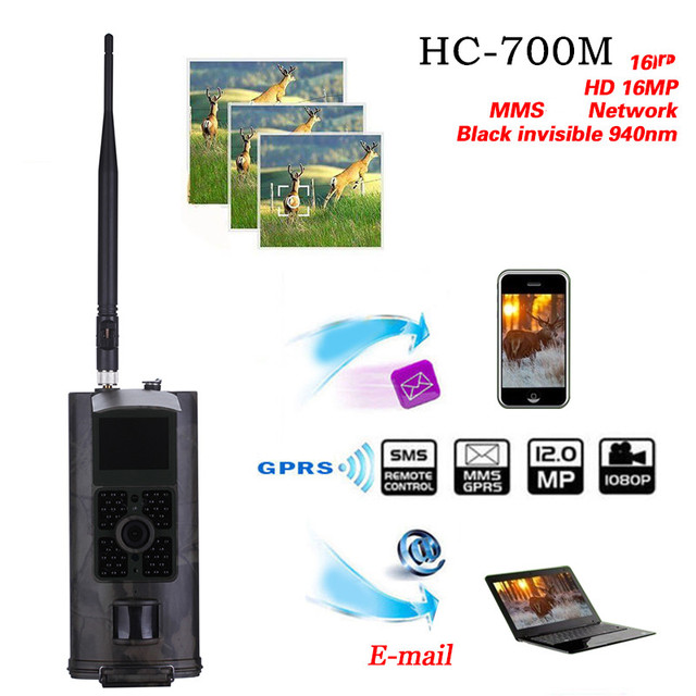 HC-700G trail camera gamehuntingacorn wild gsm deermini night vision mms solar 16MP 940nm Trap SUNTEKCAM photo 3G 2G 700M 6