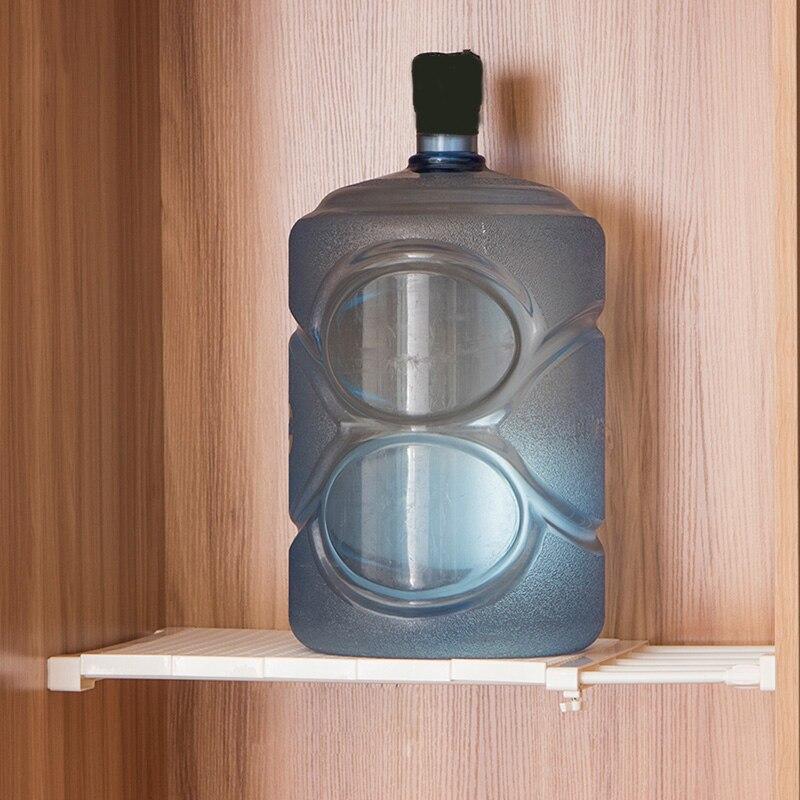 Fashion-Retractable Closet Organizer Shelf Adjustable Kitchen Cabinet Storage Holder Cupboard Rack Wardrobe Organizer Bathroom S